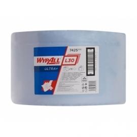 7425 Протирочный материал в рулонах WypAll L30 Ultra+ трёхслойный голубой (1 рул. 750л.)