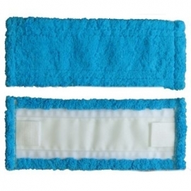 Моп 50х14 микрофибра, голубой, с ушками